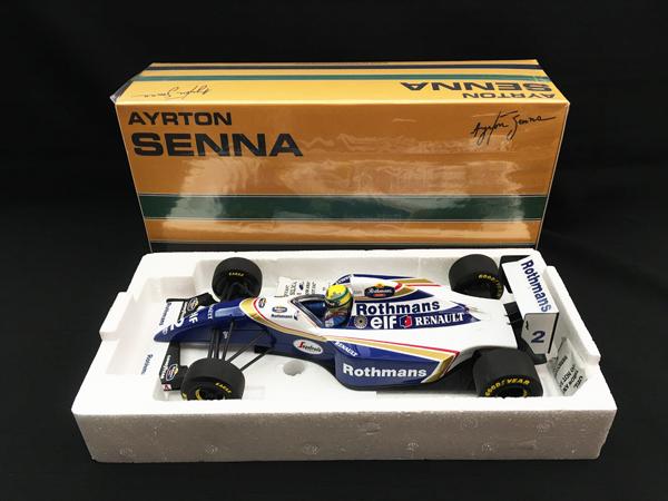 【再入荷】ミニチャンプス 1/18 ウィリアムズFW16 A .セナ 1994 当店オリジナルタバコロゴモデル