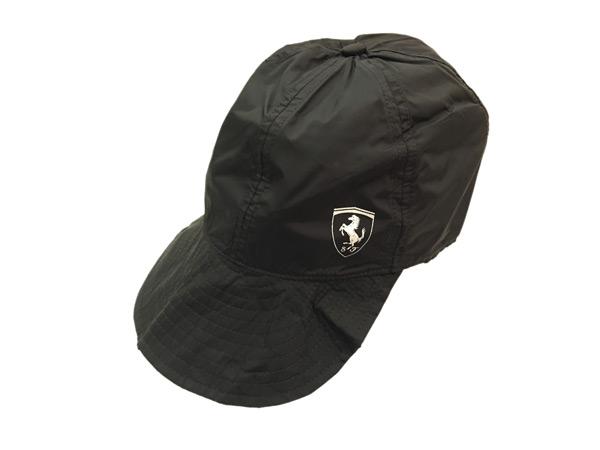 フェラーリ パドッククラブ ゲスト用 シークレットポケット付き 折りたたみキャップ
