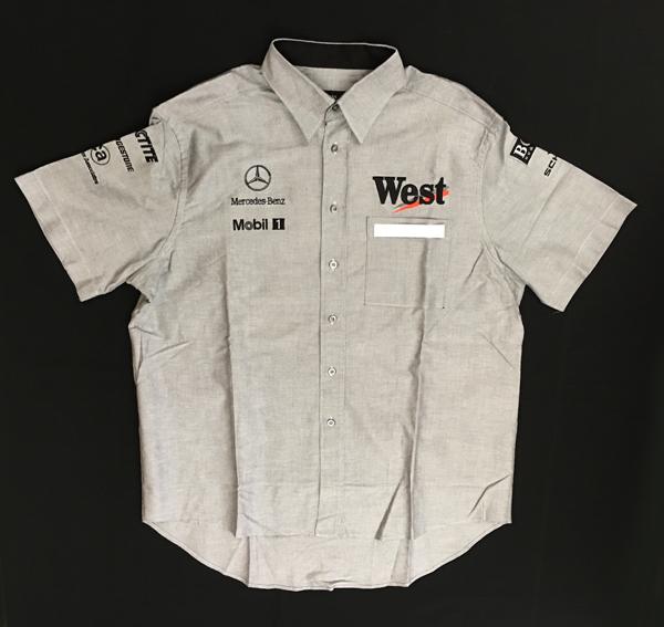 2001 マクラーレン チーム支給品 ピットシャツ(WEST版) サイズXL USED