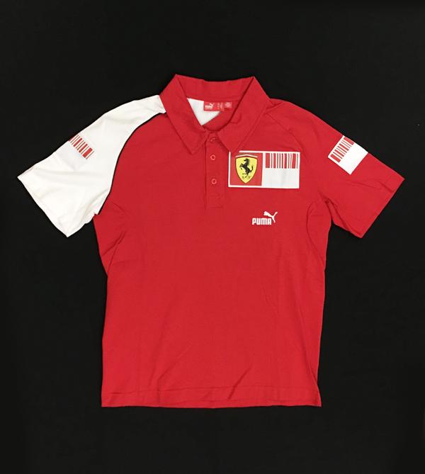 フェラーリ パドッククラブ スタッフ支給品 ポロシャツ サイズM(かなり小さめ) USED(新品同様)