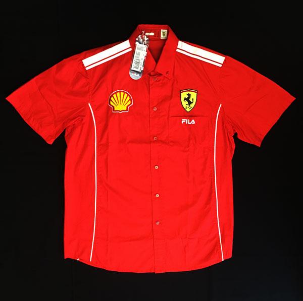 2004 フェラーリ SHELLクルー支給品 ピットシャツ 新品 サイズM(大きめ)