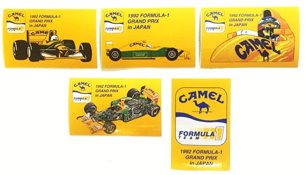 キャメル 1992年 日本GP ベネトン フォーミュラ1 スポンサーステッカー 5枚セット
