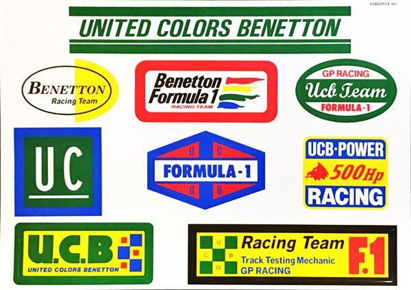ベネトン フォーミュラ1 1990年代 チームロゴ ステッカーセット