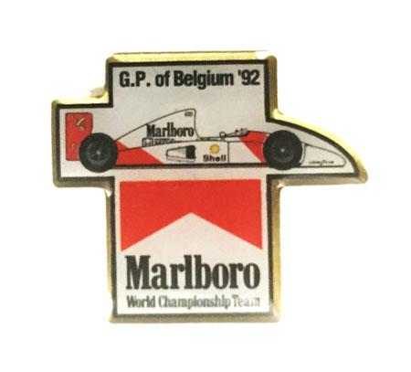 マクラーレン マールボロ 1992年 ベルギーGP ピンバッチ