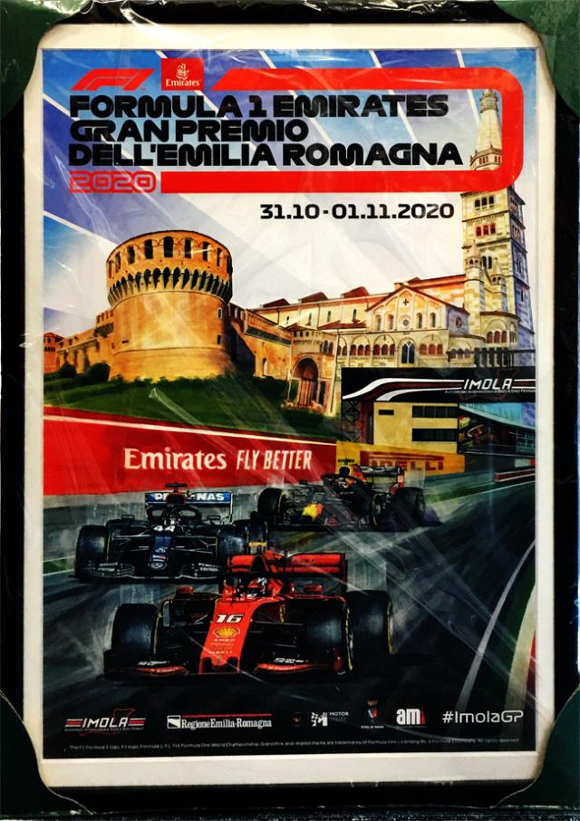 2020年 F1エミリアロマーニャGP 開催記念 公式ポスター(額装品)