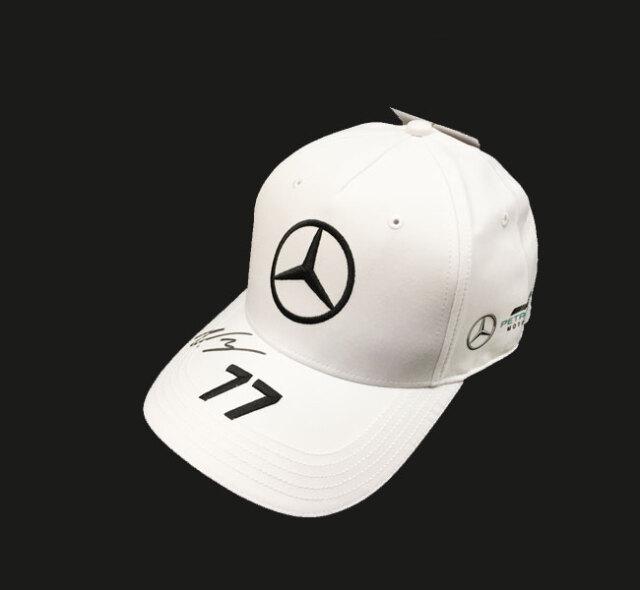 V.ボッタス直筆サイン入 2020 メルセデスF1ドライバーズキャップ(ベースボール)ホワイト