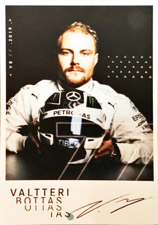 メルセデスF1チーム2019 V.ボッタスドライバーズカード (カードのみ)