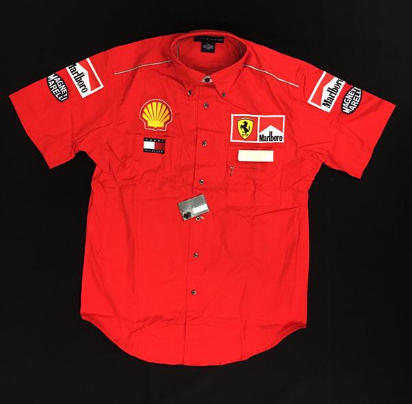 2001 フェラーリ チーム支給品 チーム ピットシャツ サイズL 新品 マルボロ