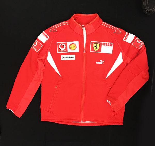2006 フェラーリ チーム支給品 チームフリースジャケット サイズXL USED バーコード