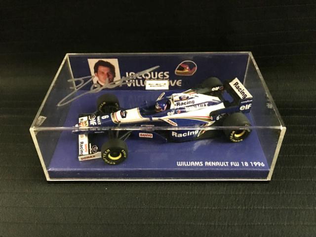 J.ビルニューブ直筆サイン入 ミニチャンプス1/43 ウィリアムズFW18 1996年