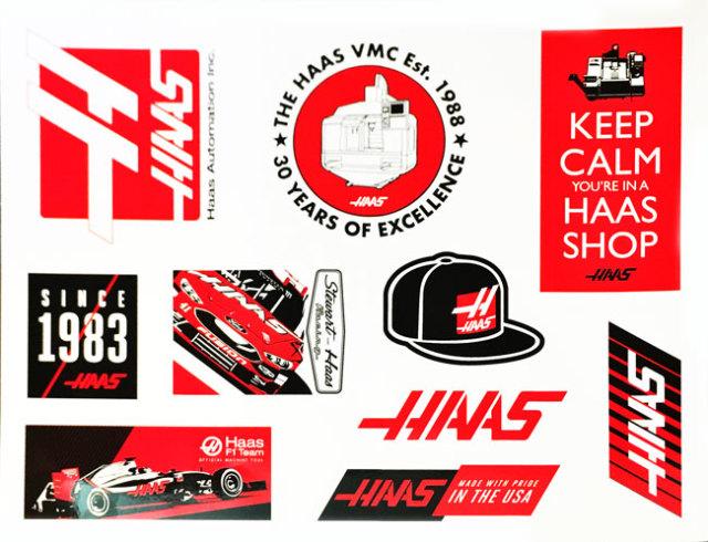 HAAS F1 チーム プロモーション ステッカーセット