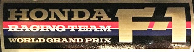 HONDA(ホンダ)F1 1980年代 チームステッカー 金色ベース (大)