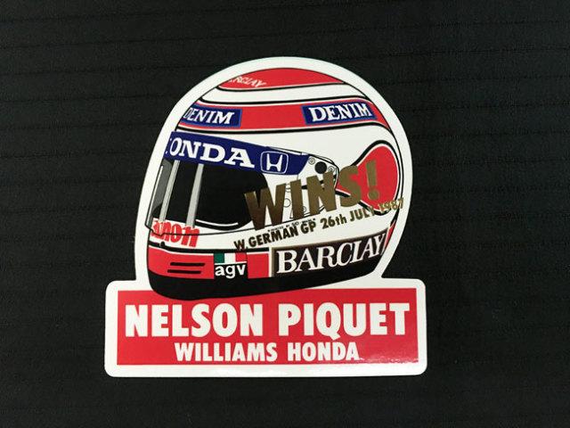 HONDA ウィリアムズ ホンダ F1 1987年ドイツGP ピケ優勝 記念ヘルメットステッカー