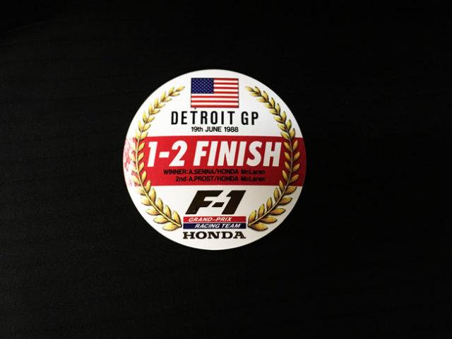 HONDA マクラーレン ホンダ F1 1988年 アメリカGP セナ&プロスト 1~2フィニッシュ記念プロモーションステッカー