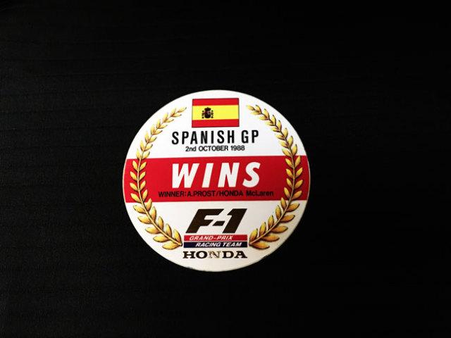HONDA マクラーレン ホンダ F1 1988年 スペインGP セナ優勝記念プロモーションステッカー