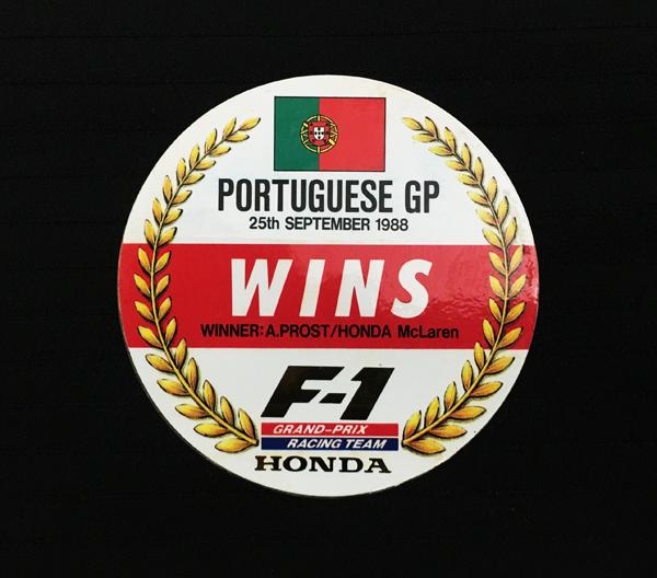 HONDA 1988年 HONDA ポルトガルGP優勝 プロモーション ステッカー サイズ:直径8cm