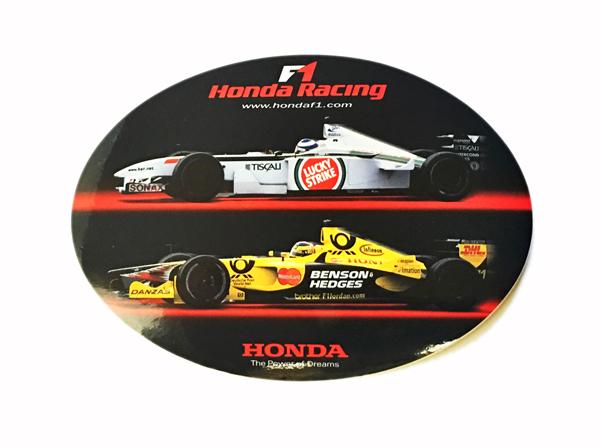 2001 HONDA F1 RACING プロモーションステッカー