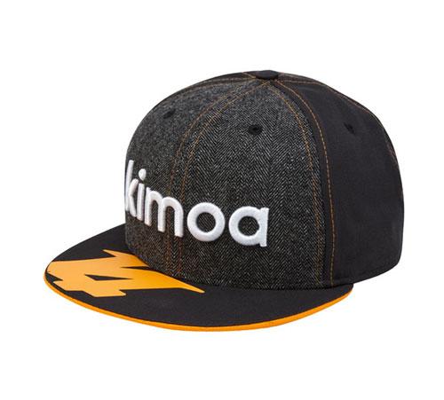 KIMOA 2018 F.アロンソ ドライバーズキャップ グレーカラー フラットver(NEWERA製)