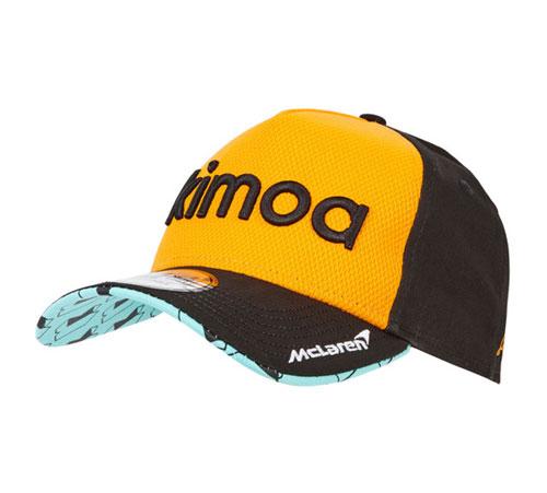 KIMOA 2018 F.アロンソ ドライバーズキャップ パパイヤカラー ベースボールver(NEWERA製)