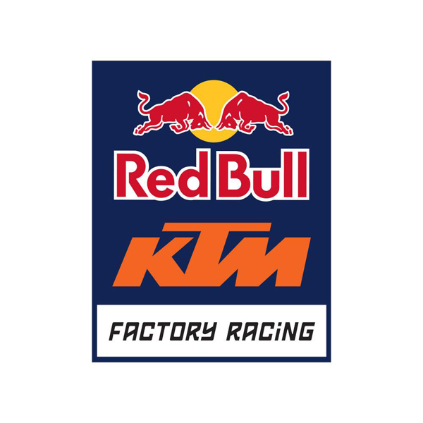 レッドブル MOTOGP KTM ファクトリーレーシング チームロゴステッカー サイズ:縦7.5×横6.3cm