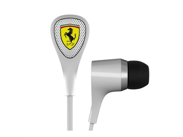 フェラーリ ノイズキャンセル機能付きイヤホン 有線タイプ ホワイト