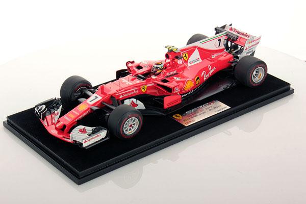 ルックスマート 1/18 フェラーリ SF70H K.ライコネン 2017年モナコGP2位
