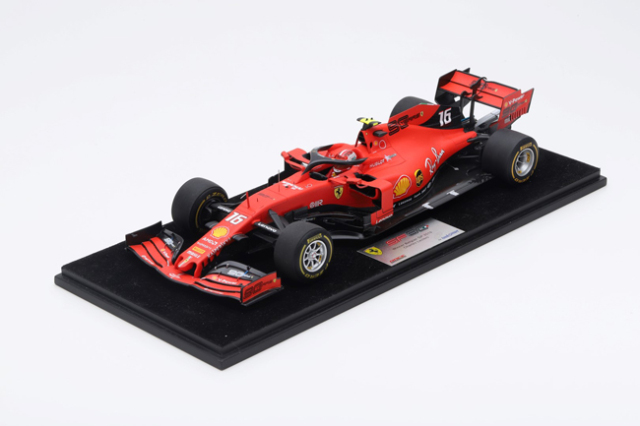 ルックスマート 1/18 フェラーリ SF90 C.ルクレール 2019年ベルギーGP優勝 No.16