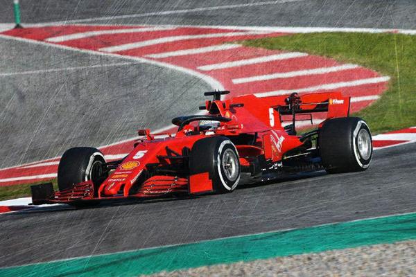 ルックスマート 1/18 フェラーリ SF1000 S.ベッテル 2020年バルセロナテスト No.5