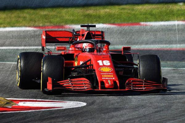 ルックスマート 1/18 フェラーリ SF1000 C.ルクレール 2020年バルセロナテスト No.16