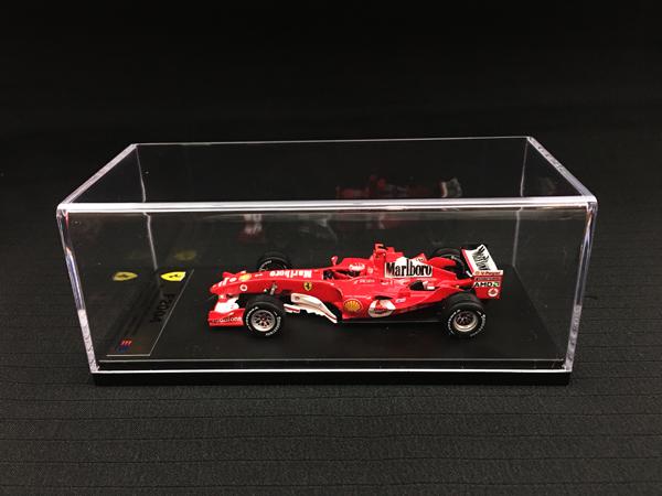 【再入荷】国内限定品 ルックスマート 1/43 フェラーリ F2004 M.シューマッハ 2004年日本GP優勝 当店オリジナルタバコロゴモデル