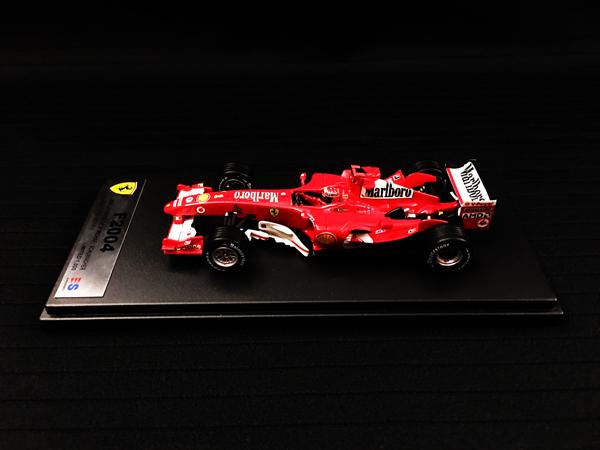 国内限定品 ルックスマート 1/43 フェラーリ F2004 M.シューマッハ 2004年日本GP優勝 当店オリジナルタバコロゴモデル