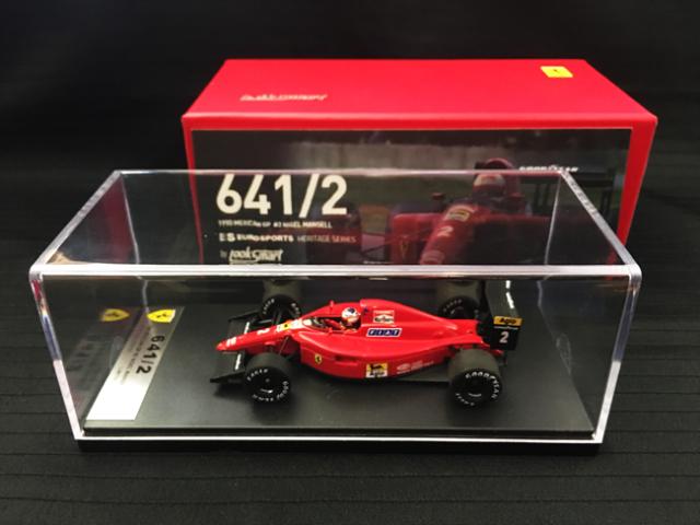 【再入荷】国内限定品 ルックスマート 1/43 フェラーリ 641/2 N.マンセル 1990年メキシコGP2位 当店オリジナルタバコロゴモデル