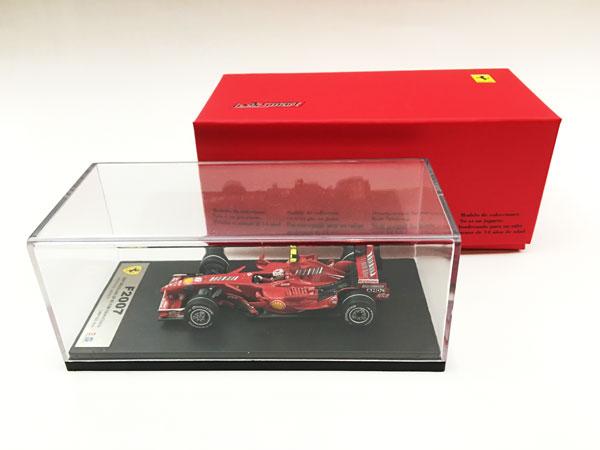 【再入荷】ルックスマート 1/43 フェラーリ F2007 K.ライコネン 2007年ブラジルGP優勝ワールドチャンピオン 当店オリジナルバーコードロゴモデル