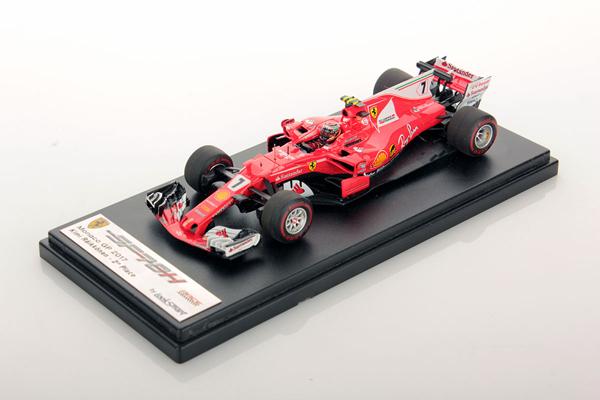 ルックスマート 1/43 フェラーリ SF70H K.ライコネン 2017年モナコGP2位 No.7