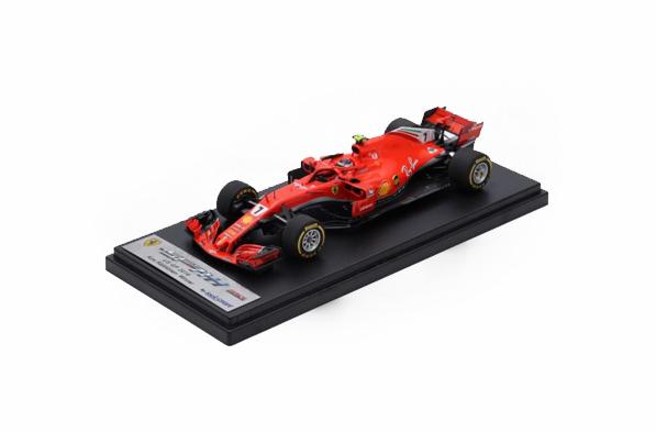 【祝F1 300GPプレゼント企画】【再入荷】ルックスマート 1/43 フェラーリ SF71H K.ライコネン 2018年アメリカGP優勝 No.7