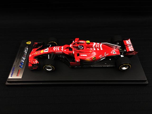 ルックスマート 1/43 フェラーリ SF71H K.ライコネン 2018年アメリカGP優勝 No.7 当店オリジナルMission Winnowロゴ仕様
