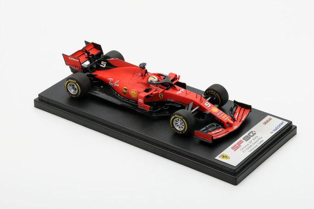 ルックスマート1/43 フェラーリ SF90 S.ベッテル 2019年中国GP3位1000th F1 Grand Prix No.5