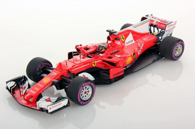 ルックスマート 1/43 フェラーリ SF70H K.ライコネン 2017年オーストラリアGP4位