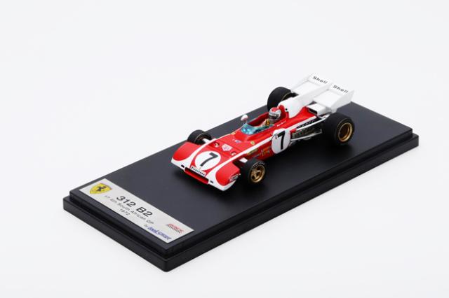 ルックスマート 1/43 フェラーリ 312 B2 M.アンドレッティ 1972年南アフリカGP4位 No.7