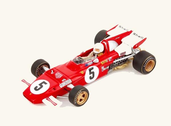 ルックスマート 1/43  フェラーリ 312B2 C.レガツォーニ 1971年レース オブ チャンピオンズ優勝 NO.5