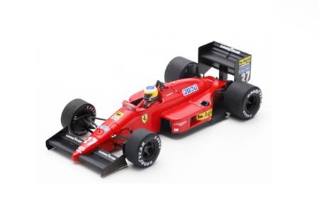 ルックスマート 1/43 フェラーリ F187 M.アルボレート 1987年モナコGP3位 No.27