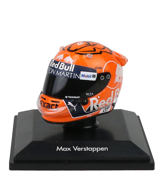 【海外別注】スパーク 1/8 レッドブル M.フェルスタッペン ヘルメット 2018ベルギーGP仕様