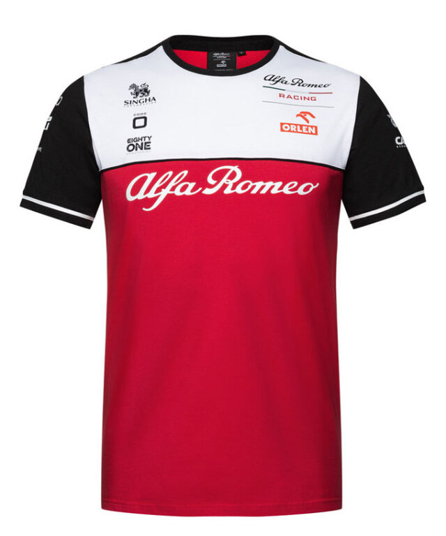 2021 アルファロメオF1チームTシャツ