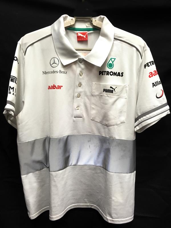 2012 メルセデス チーム支給品 セットアップポロシャツ サイズM USED