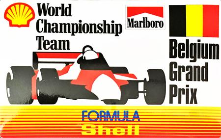 マールボロ(Marlboro)&シェル(Shell) 1990年代 プロモーションステッカー(ベルギーGP)  サイズ 縦8×横12.5cm
