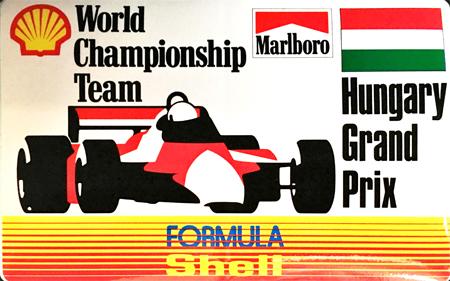 マールボロ(Marlboro)&シェル(Shell) 1990年代 プロモーションステッカー(ハンガリーGP)  サイズ 縦8×横12.5cm