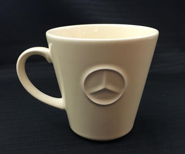メルセデスベンツ ロゴ&マーク マグカップ クリーム色