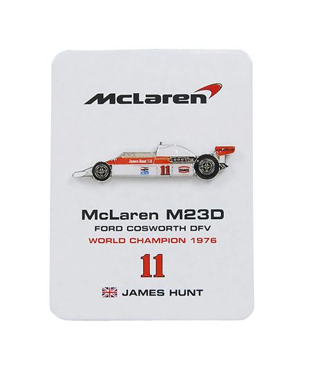 マクラーレン M23D J.ハント ピンバッチ No.11