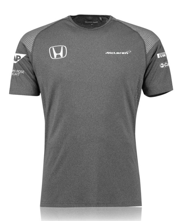 マクラーレン ホンダ 2017 チーム Tシャツ グレー