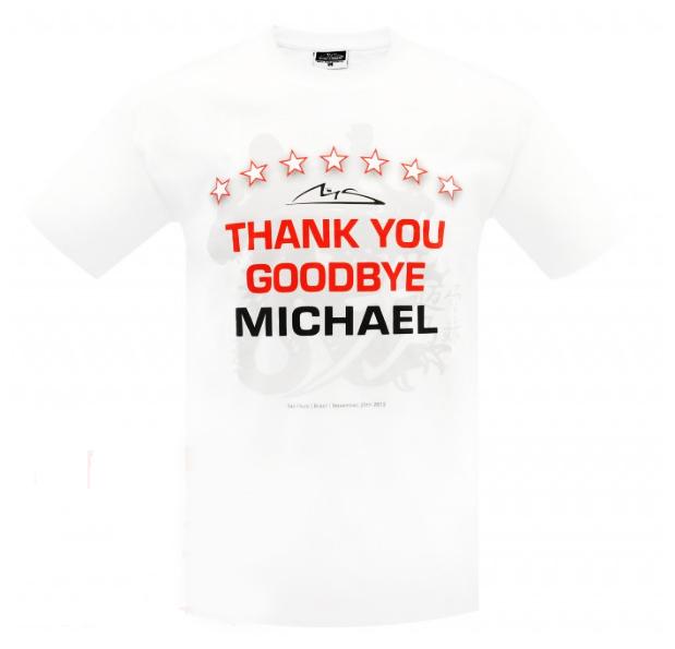 ミハエル・シューマッハ コレクション 『Thank You Goodbye Michael』Tシャツ